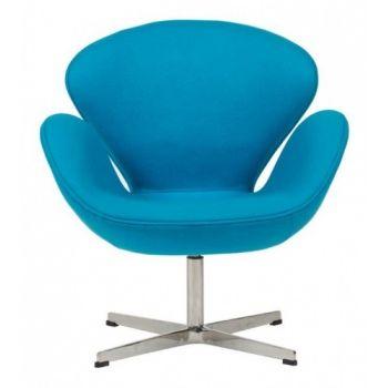 Кресло Swan Chair голубое
