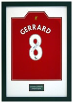Signed Football shirt framing - great gift idea for my hubby