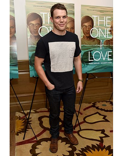 Jake Lacy in New York  Cool Color Block T-Shirts