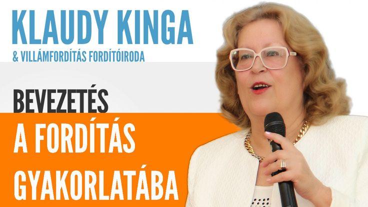 Prof. Dr. Klaudy Kinga előadásai a fordítás gyakorlatáról. A Villámfordítás Fordítóiroda a teljes félév 11 előadását videón közvetíti, a fordit.hu-val partnerségben. Az előadások az előadó jóvoltából bármikor, szabadon megtekinthetők
