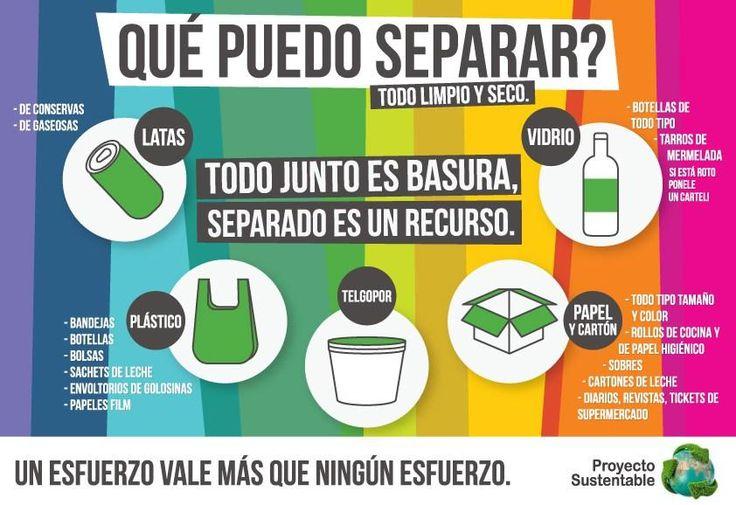 Separar los residuos en casa en el momento de tirarlos a la basuraes la mejor manera de preservar y mantener los recursos naturales. Pero hay más, mucho más.