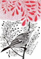 612 Zentangle Bird