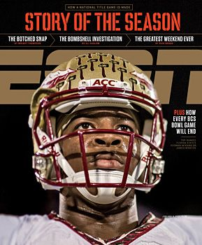 ESPN - The magazine for the next generation of sports fans with emphasis on the personality, lifestyle  off-the-field activities of today's newsworthy and up-and-coming athletes. All delivered with insights, humor, cutting edge design and in-your-face-photography.