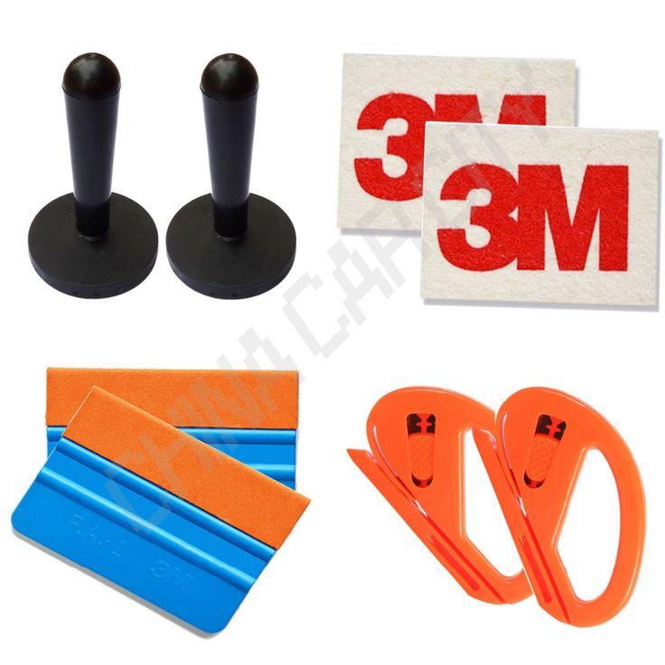best price car styling 3d car carbon fiber vinyl car wrap tool car sticker install magnet squeegee #3m #vinyl #car #wrap