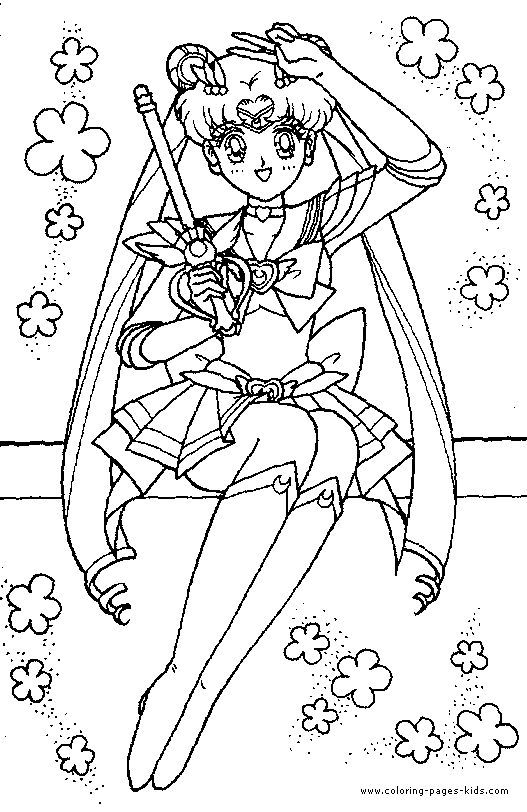 Sailor Moon color page cartoon characters coloring pages, color ...