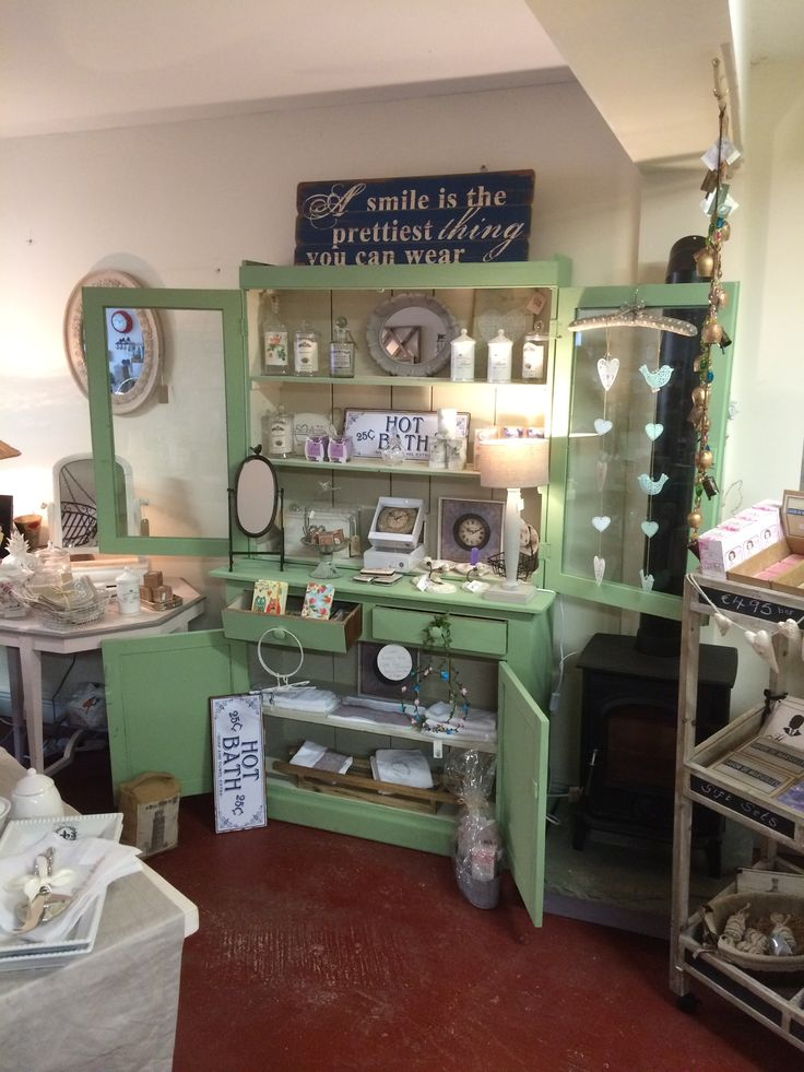 """Stunning vintage Wexford dresser. Professionally repaired and up cycled by The Store Room Gorey. Finished with our fab """" Linen """" and """" Verde """" vintage paints. Price: € 680.00.  053-94-84626.  REDUCED TO CLEAR € 495.00 !!!!!  SOLD"""