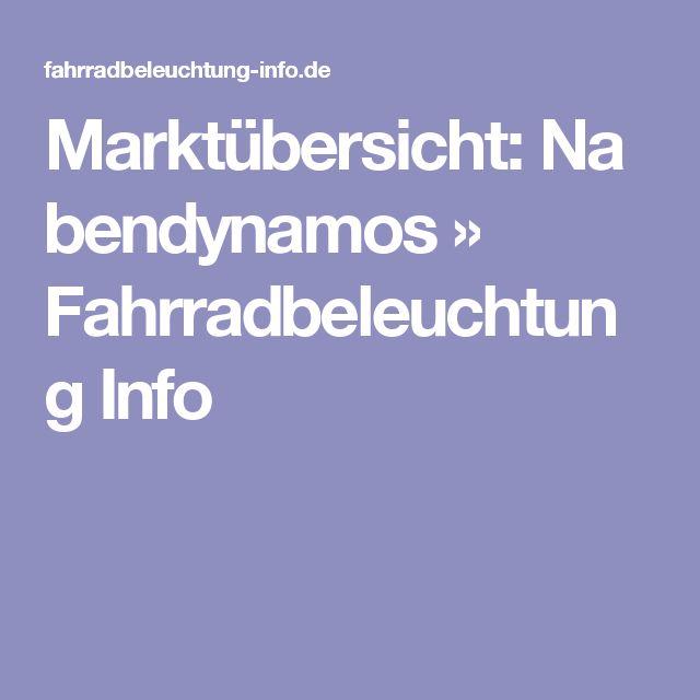 Marktübersicht:Nabendynamos » Fahrradbeleuchtung Info
