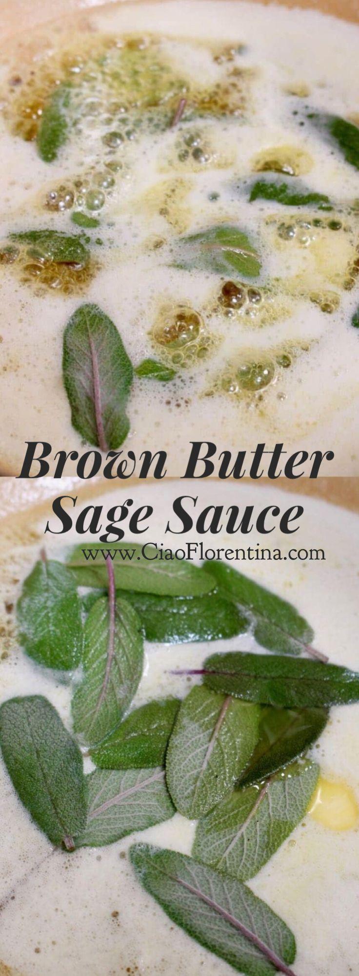 Brown Butter Sage Sauce Recipe | CiaoFlorentina.com @CiaoFlorentina