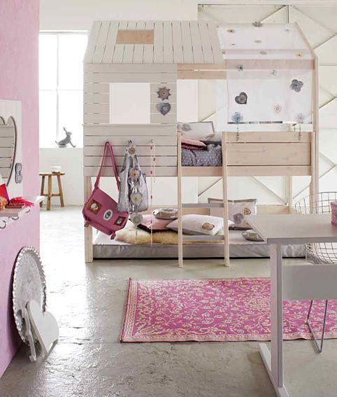 Muebles Portobellostreet.es: Cama Cabaña Silver Sparkle - Camas Infantiles y Literas Infantiles - Muebles Infantiles