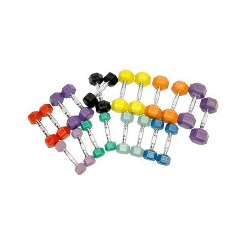 Element Fitness Colored Aerobic Hex Dumbbell Set | from hayneedle.com