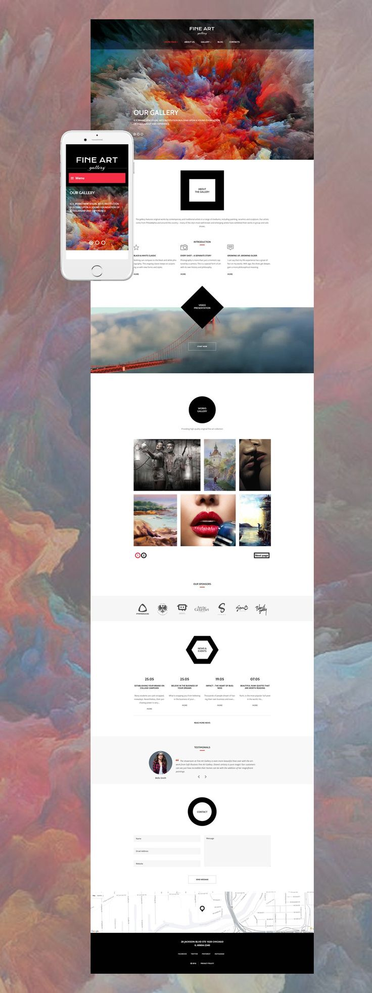 Show off your unique talents with these Art Gallery & Exhibition WordPress Themes - Art Gallery (website theme) Item Picture