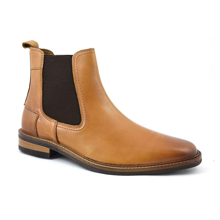 A contemporary tan chelsea boot with a complex hardwearing rubber sole. A gorgeous caramel brown is offset by dark brown side gussets. There is a subtle colour change at the toe and heel. Design detail such as the lighter stitch fading to a darker tone to tie in with the aforementioned is subtle and the overall style isclass.  • Leather upper, leather lining, leather and rubber sole • Also available inblackandbrown