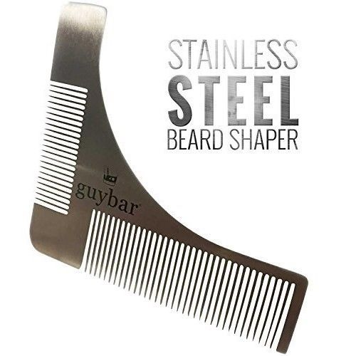 Guybar Beard Shaper - Grooming Template and Comb to Create Perfect Curves and - #Guybar