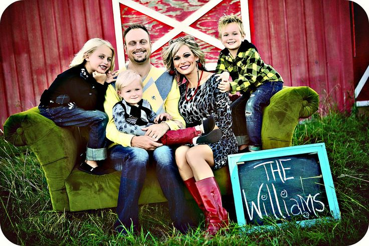 family photo: Christmas Cards, Families Pictures, Green Couch, Photo Ideas, Family Photos, Families Photo, Families Pics, Chalkboards Ideas, Red Barns