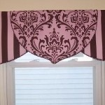 I like the shape of this valance for some of my living room windows.