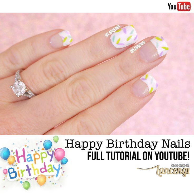 199 best exclusive hand painted nail art images on pinterest cute and easy birthday nail designs birthday cake and icing nail polish design full tutorial painted nail arthand prinsesfo Image collections