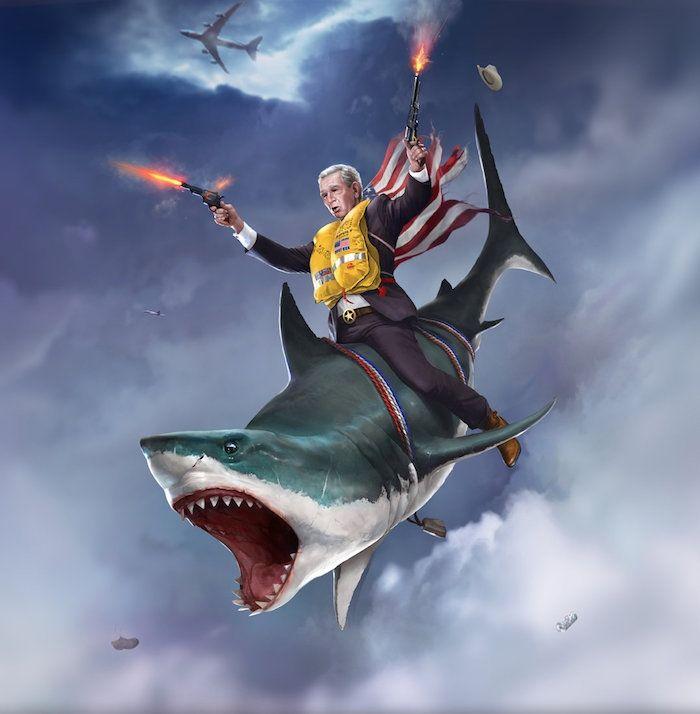 Schilderijen van Amerikaanse presidenten in hun meest Amerikaanse gedaante