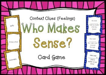 $3.50 My students LOVE playing this! This game forces them to use context clues, think shades of meaning, understand new vocabulary and make educated decisions about words!  There are more versions found at Mad for Teaching!
