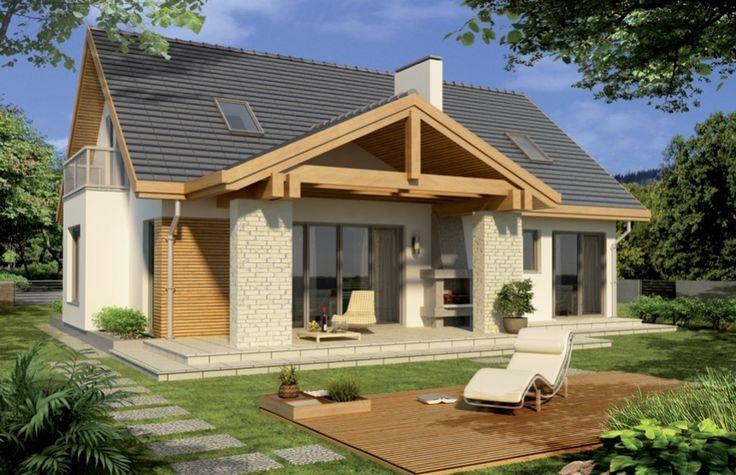 DOM.PL™ - Projekt domu HR ASTON 2 wersja B podwójny garaż z boku CE - DOM TZ9-99 - gotowy projekt domu