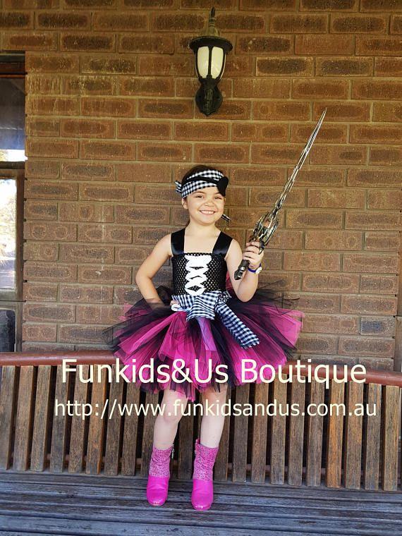 Pirate Tutu Dress Captain Pirate Tutu Costume  Photo Prop