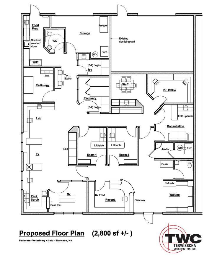 Veterinary Office Floor Plans