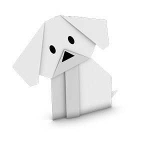 Traditional origami puppy for kids. We love to make origami after a yoga session. So relaxing!
