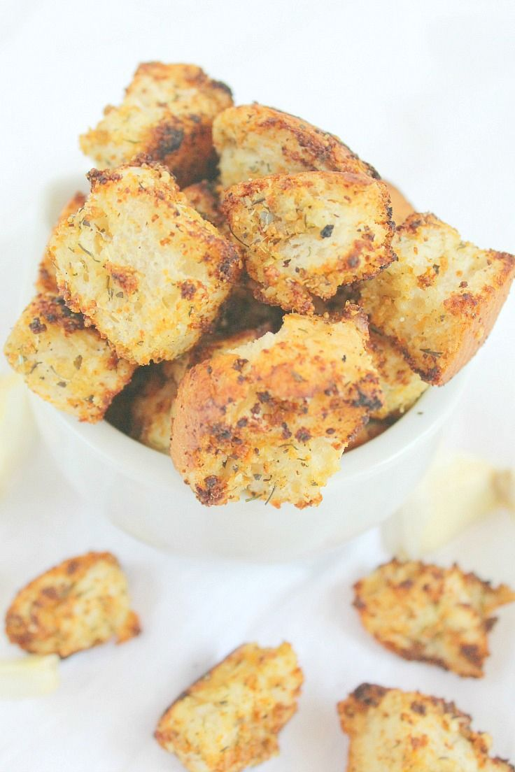 homemade croutons homemade seasonings herbs garlic side dishes ...