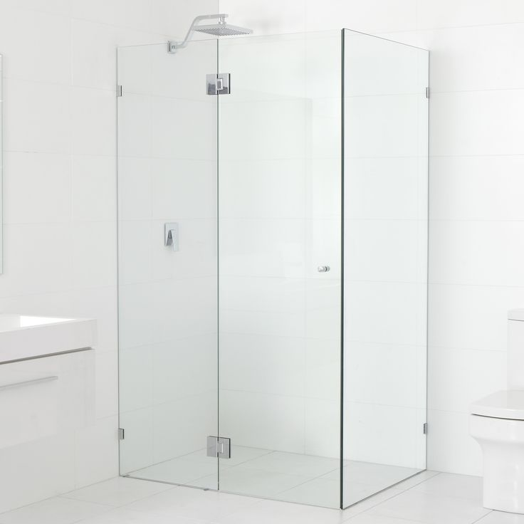 "36"" x 36"" x 78"" Hinged Frameless Glass Return Shower Door (Glass Hinge)"