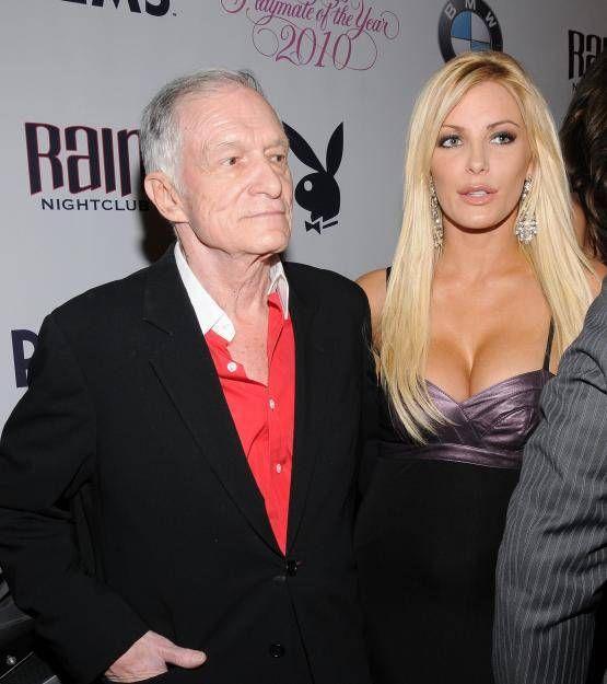 """Zum ersten Mal äußerte sich jetzt die Witwe Crystal Harris des verstorbenen """"Playboy""""-Gründers Hugh Hefner(✝91) zu dem Tod ihres Mannes: """"Mein Herz ist gebrochen. Ich bin fassungslos""""."""