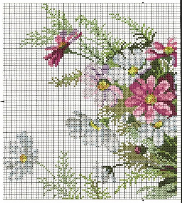 #flowers #cross #stiich #embroidery