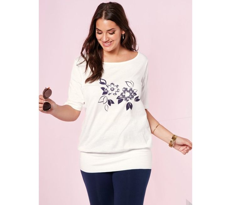 Tričko s potiskem květin | modino.cz #ModinoCZ #modino_cz #modino_style #style #fashion #shirt #bellisima