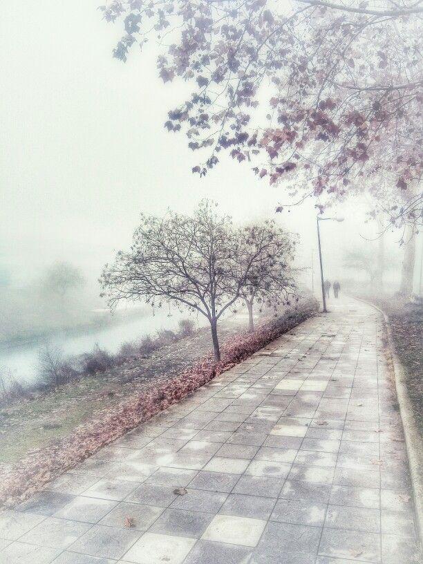 Trikala city by river side