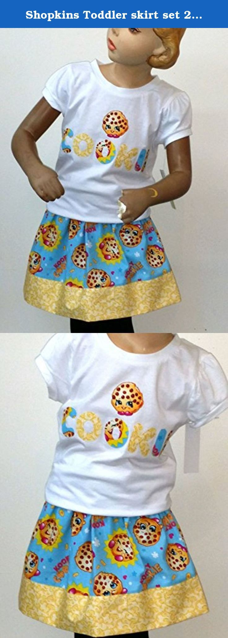 Shopkins Toddler skirt set 2 piece Shopkins Party Outfit Girls Shopkins Party size 6. One-of-a kind SHOPKINS 2-piece outfit, is prefect for the Birthday. Set included short sleeves white shirt with matching elastic waist skirt with hand cut applique in the front of the shirt. Applique was sewn down for durability. YOUR BUSINESS IS VERY IMPORTANT TO US PLEASE BEFORE ANY BAD REVIEW COMMUNICATE WITH ME AND WE CAN WORK THINGS OUT FEEL, FREE TO MESSAGE ME ANYTIME IF YOU HAVE ANY QUESTION OR...