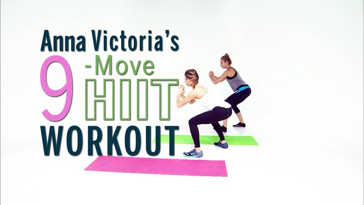 Anna Victoria's 9-Move HIIT Workout