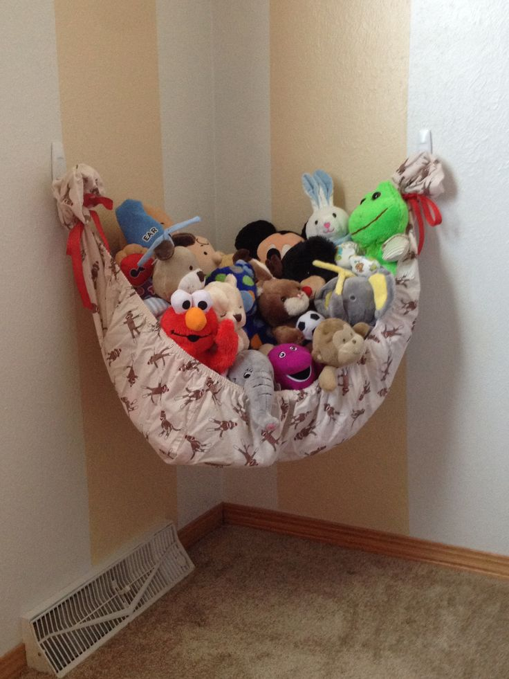 Do it yourself stuffed animal hammock zachary james for Diy bedroom hammock