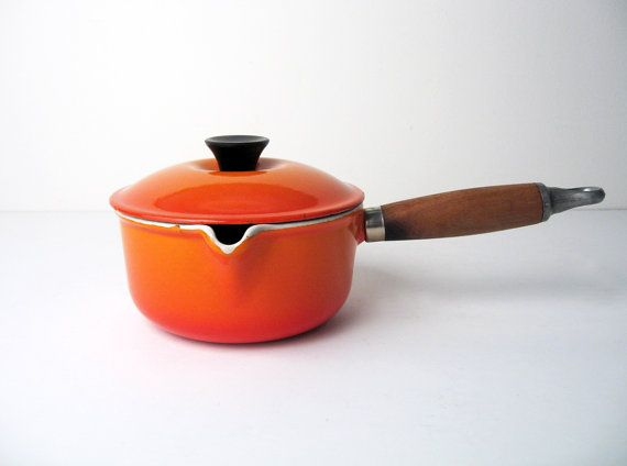 they calling my pan 'Vintage'!? lol whatevs! 'Le Creuset MidCentury Cast Iron Sauce Pan No 14'