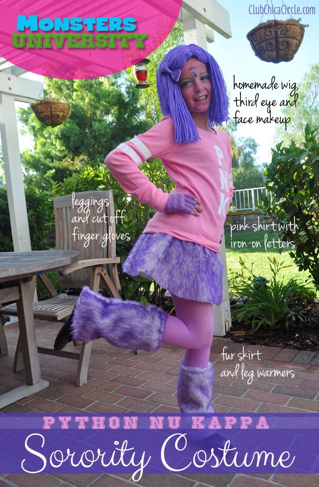 Monsters University Homemade Sorority costume tutorial #monstersu