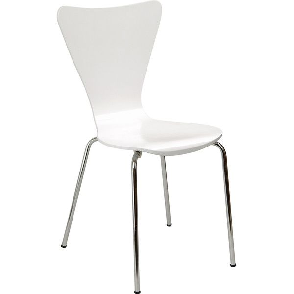 Legare Furniture Bent Ply Chair in White Finish ($63) ❤ liked on Polyvore featuring home, furniture, chairs, dining chairs, white, computer furniture, bent plywood chair, colored dining chairs, white dining chairs and bent plywood furniture