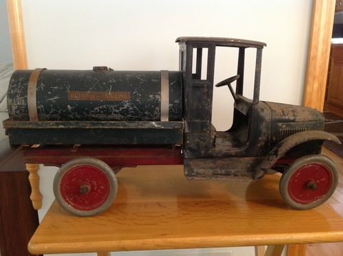 buddy l pressed steel oil tanker truck 206a antique toy. Black Bedroom Furniture Sets. Home Design Ideas