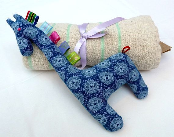 Baby Boy Combo Shower Gift Handmade Teething by MathildeAndCo, £24.00
