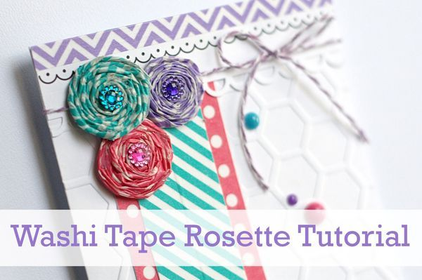 Washi Tape Rosette Tutorial by Queen and Company