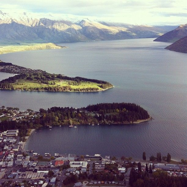 Lake Wakatipu in Queenstown, Otago
