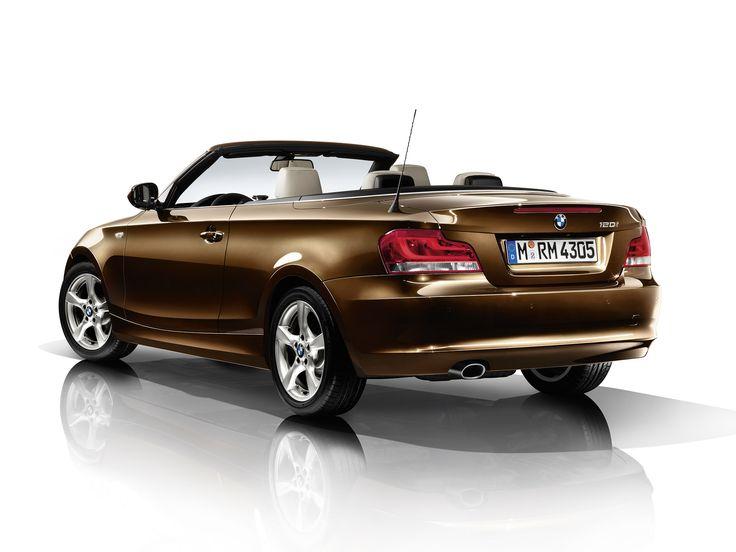 2012 BMW 1 Series Convertible brown car rear  BMW  Pinterest