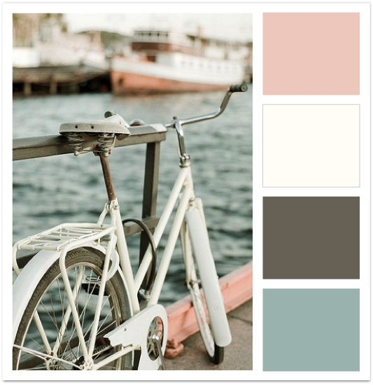 Vintage pink & blue