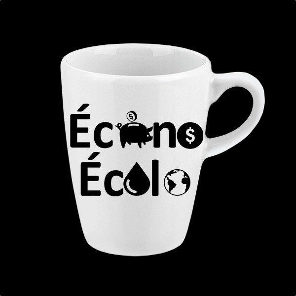Autocollant pour tasse et bouteille d'eau réutilisable « Écono Écolo »