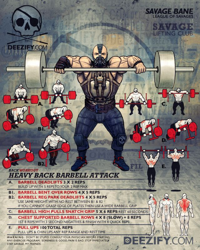 back workout: barbell back workout with bane
