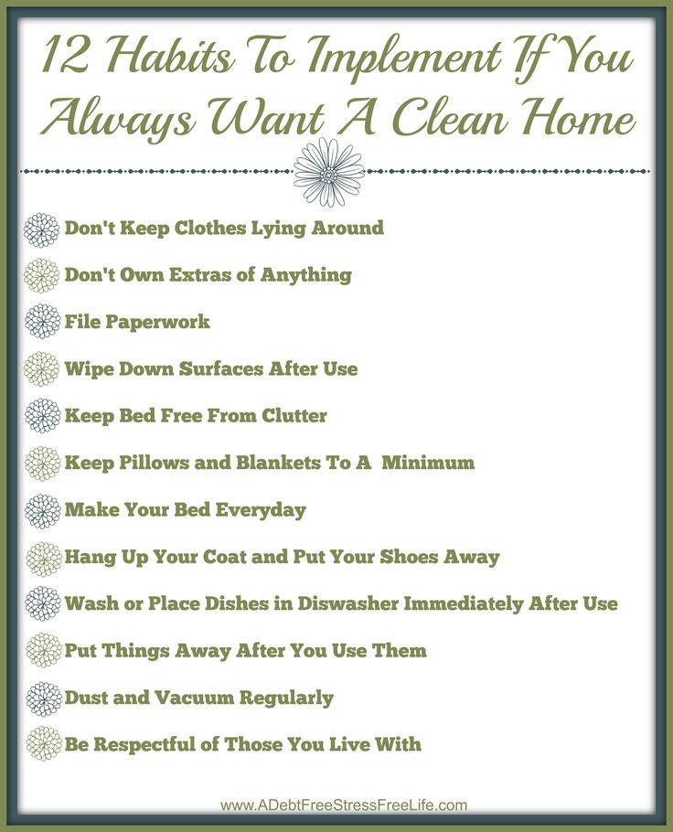 Worried you'll forget the 12 Habits of People Who Always Have A Clean Home? If you want your family to adopt these habits, I've got just the printable you can hang in your home as a gentle reminder!