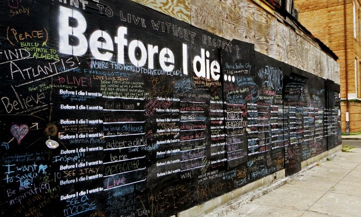 Before I Die project: Candy Chang