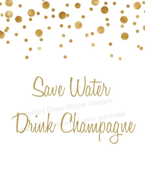 Set of 5 printable white and gold champagne bridal shower