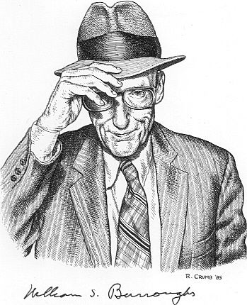 William S. Burroughs by Robert Crumb